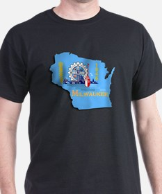 MILWAUKEE WI CITY FLAG T-Shirt