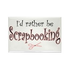 I'd Rather be Scrapbooking Rectangle Magnet