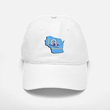 MILWAUKEE WI CITY FLAG Baseball Baseball Cap