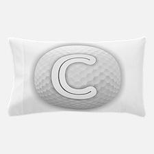 C Golf Ball - Monogram Golf Ball - Mon Pillow Case
