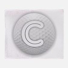 C Golf Ball - Monogram Golf Ball - M Throw Blanket
