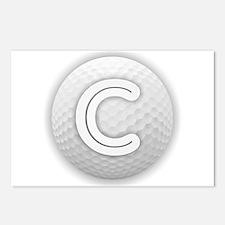 C Golf Ball - Monogram Go Postcards (Package of 8)