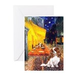 Cafe & Cavalier Greeting Cards (Pk of 20)