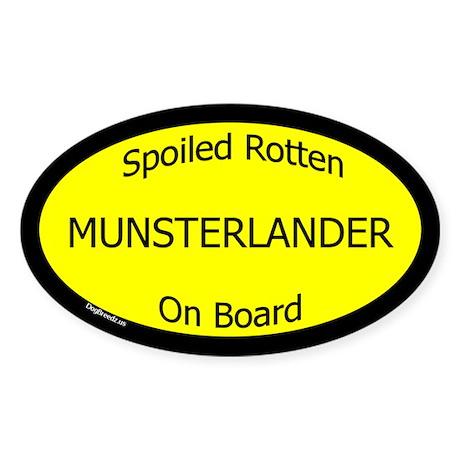 Spoiled Munsterlander On Board Oval Sticker