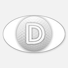 D Golf Ball - Monogram Golf Ball - Monogra Decal