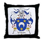 Urban Family Crest Throw Pillow