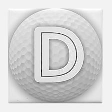 D Golf Ball - Monogram Golf Ball - Mo Tile Coaster