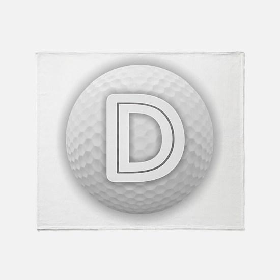 D Golf Ball - Monogram Golf Ball - M Throw Blanket