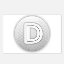 D Golf Ball - Monogram Go Postcards (Package of 8)