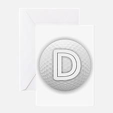 D Golf Ball - Monogram Golf Ball - Greeting Cards