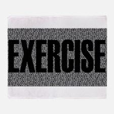 Funny Exercises Throw Blanket