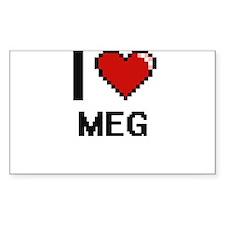 I Love Meg Decal