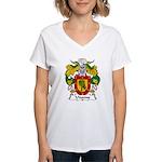Unanue Family Crest Women's V-Neck T-Shirt