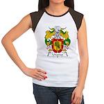 Unanue Family Crest Women's Cap Sleeve T-Shirt