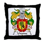 Unanue Family Crest Throw Pillow