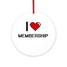 I Love Membership Ornament (Round)