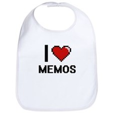 I Love Memos Bib