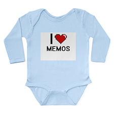 I Love Memos Body Suit