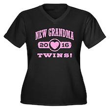 New Grandma Women's Plus Size V-Neck Dark T-Shirt