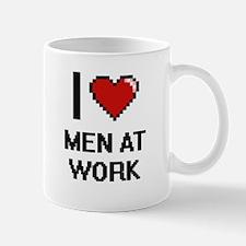 I Love Men At Work Mugs