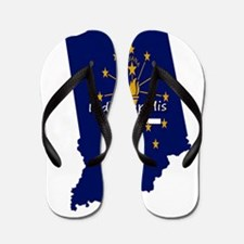 INDIANAPOLIS INDIANA FLAGS Flip Flops
