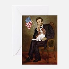 Lincoln's Cavalier Greeting Card