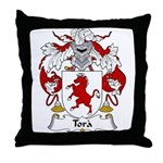 Tora Family Crest Throw Pillow