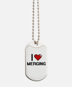 I Love Merging Dog Tags