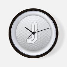 J Golf Ball - Monogram Golf Ball - Mono Wall Clock