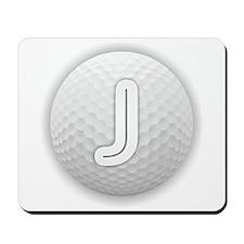 J Golf Ball - Monogram Golf Ball - Monog Mousepad