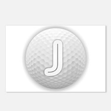 J Golf Ball - Monogram Go Postcards (Package of 8)