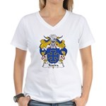 Texeira Family Crest Women's V-Neck T-Shirt
