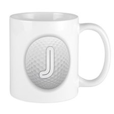 J Golf Ball - Monogram Golf Ball - Monogram J Mugs
