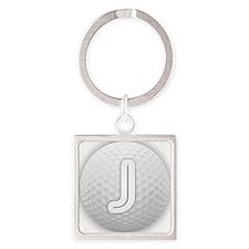 J Golf Ball - Monogram Golf Ball - Monog Keychains
