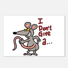 I don't give a rats ass.. Postcards (Package of 8)