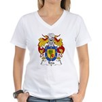 Tena Family Crest Women's V-Neck T-Shirt