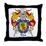 Tena Family Crest Throw Pillow