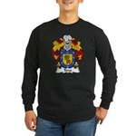 Tena Family Crest Long Sleeve Dark T-Shirt