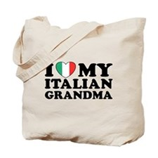 I Love My italian Grandma Tote Bag