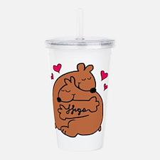 bear hugs Acrylic Double-wall Tumbler