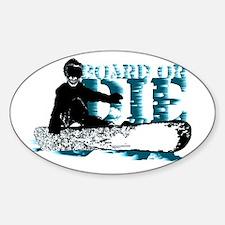 board or die snowboarder Decal