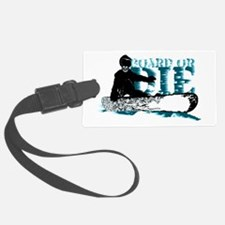 board or die snowboarder Luggage Tag