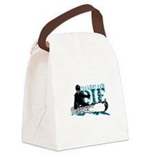 board or die snowboarder Canvas Lunch Bag