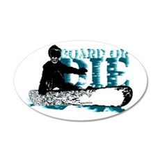 board or die snowboarder Wall Decal