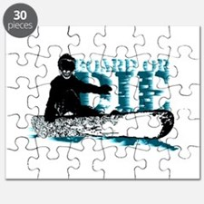 board or die snowboarder Puzzle