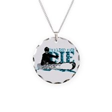 board or die snowboarder Necklace