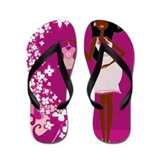 african american pregnant Flip Flops
