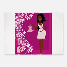 african american pregnant 5'x7'Area Rug
