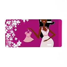 african american pregnant Aluminum License Plate