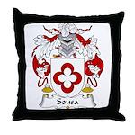 Sousa Family Crest Throw Pillow